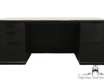 KIMBALL INTERNATIONAL 72″ Black Bow Front Executive Desk