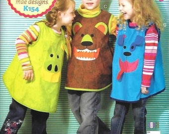 Childrens Smocks  Sizes  XS (4)-MED (8) New Kwik Pattern 154