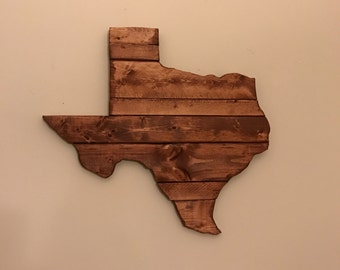 Texas Wood Cutout Sign