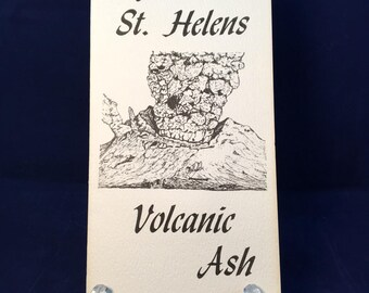 Mount St. Helens Ash Souvenir pamphlet with Ash, 5/18/1980, Science, Pumice, Silica