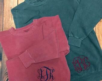 Monogrammed Comfort Colors Sweatshirt, Personalized Comfort Colors Sweatshirt, Comfort Colors Sweatshirt, Monogrammed Bridesmaids Gifts