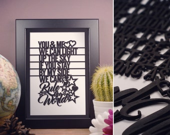 Take That Rule the World Song Lyrics Framed Artwork