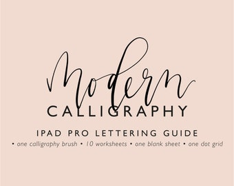 IPad Pro lettering guide modern calligraphy