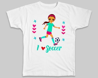 I love Soccer T shirt Heart Soccer Shirt Girl Clothes Soccer Gift Soccer Tee Shirt Girl Soccer Tshirt Soccer Gift Idea Soccer Fan Shirt