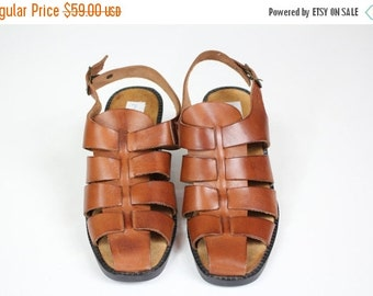 Men S Fisherman Sandals Etsy