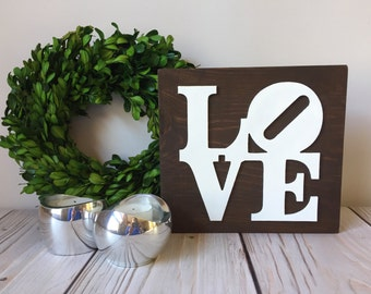 Love Sign - Wood Signs - Rustic Home Decor - Rustic Wedding Decor - Love Decor - Wall Art - Wooden Signs - Farmhouse Sign - Wedding Sign