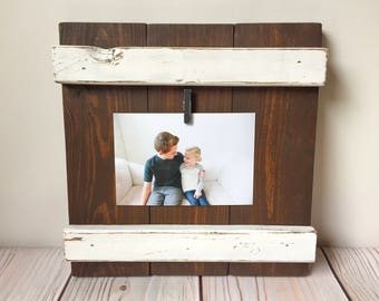 Picture Frame - Wood Frame - Rustic Home Decor - Farmhouse Decor - Wood Picture Frame - 4x6 Picture Frame - Housewarming Gift - Gift For Her