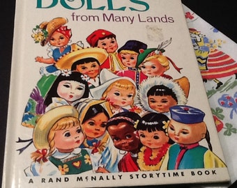 Vintage Dolls from Many Lands A Rand McNally Storytime Book 1975 Larger Version