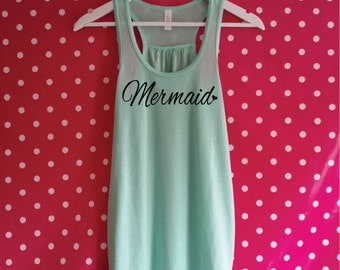 Mermaid Tank Top. Mermaid Tank. Mermaid Vest Top. Mermaid Fashion. Mermaid Beach Tank Top. Mermaid Racerback Vest.