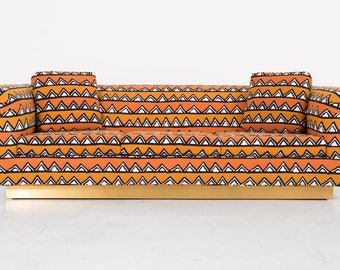 Richard Himmel Sofa Newly Reupholstered in African Cloth