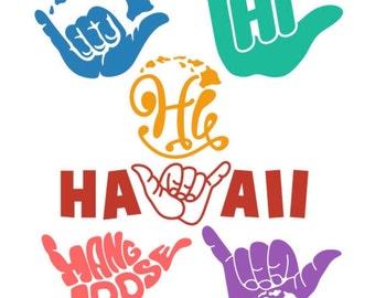 Hawaii Shaka Hang Loose - Yeti Decal - Car Decal - Laptop Decal - Cell Phone Decal