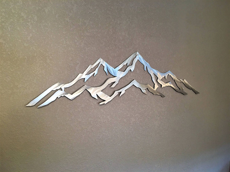 Metal Wall Art Mountain Landscapes : Foot aspen ski resorts metal wall art mountains