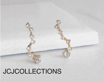 Constellation Earrings, CZ Earrings