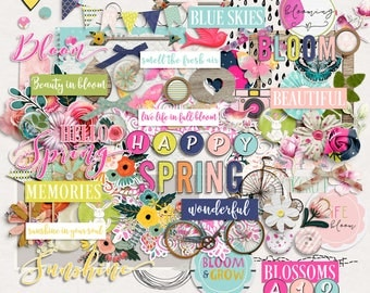 SUMMER SALE - Bloom - Digital Scrapbooking Elements