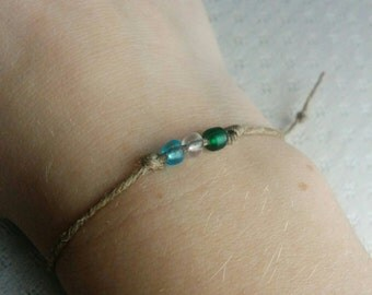 Stacking Bracelet, Beaded Bracelet, Minimalist Bracelet, Simple Bracelet, Twine Bracelet, Minimalist Jewelry, Adjustable Bracelet
