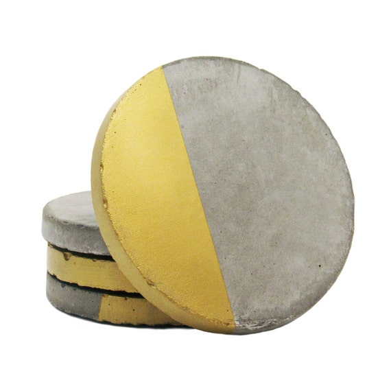 Concrete Coasters Modern Coasters Drink Coasters Cement