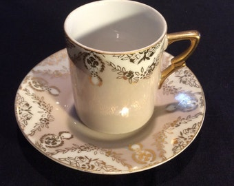 Vintage Small China Teacup, Demitasse Cup, Nororest Bone China, Replacement China, Gifts For Her