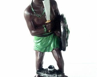 5 Inch Statue Orisha Ogun Yoruba Santeria Guerrero Ogum Warrior