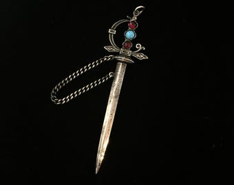 antique french sword amulet