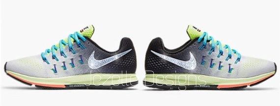 free shipping New Bling Nike Air Zoom Pegasus 33 Custom by JezelleDesigns 116d340cd4