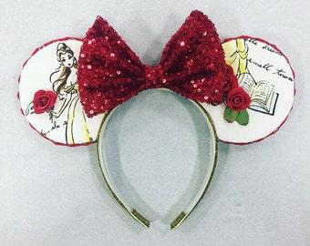 Belle Rose Printed Ears