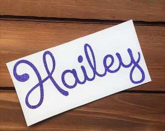 Glitter Name Decal - Personalized Glitter Decal - Any Word Decal - Custom Decal - Word Decal - Car Decal - Tumbler Decal - Laptop Decal