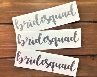 Bridesquad Decal - Glitter Decal - Bride Squad - Wedding Decal - Wedding Party - Bridal Party