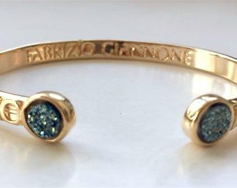 Platinium Druse, Gold Bracelet Amore Mio