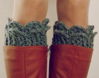 Crochet Pattern Boot Cuff PDF - Lucy Leg Warmers, boot socks, boot topper, boot cuff crochet pattern - Instant DOWNLOAD