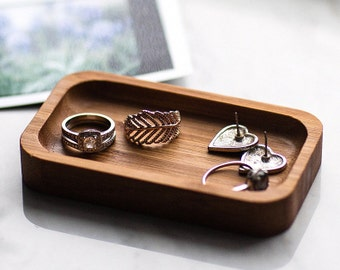Ring Dish, Bamboo Ring Dish, Unisex, Handcrafted, Handmade, Made in Canada