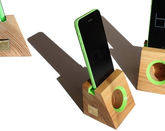 Acoustic speaker smart phone docking station wooden phone dock stand i phone 6 i pod touch cell phone stand samsung galaxy i phone 7 plus
