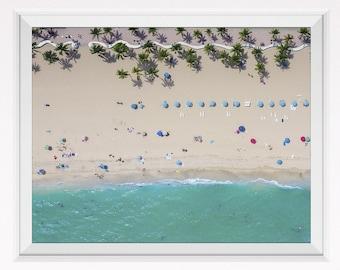 Aerial beach photography, aerial photography, aerial ocean view, beach art, beach decor, beach wall art, beach wall print, beach printable
