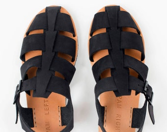 VERSE black nubuck fishermen sandal
