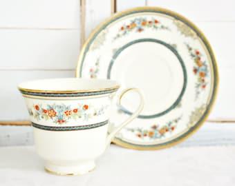 "Vintage Minton ""Stanwood"" Teacup | Floral Teacup, Pretty Teacup, Minton Teacup, Tea Party Teacup, English Teacup, Standwood Cup and Saucer."