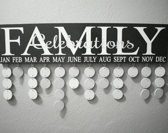 Family Birthdays Sign, Family Celebrations Sign, Birthday Sign