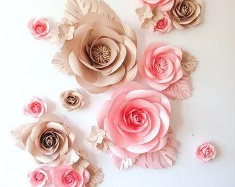 Large Paper Flowers - Paper Flower Wall - Nursery Paper Flowers - Paper Flower Decor