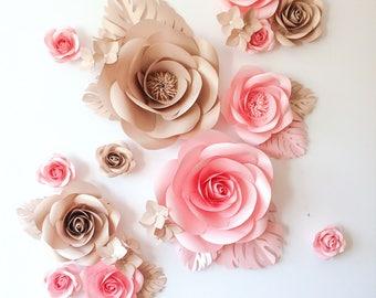 Large Paper Flowers - Paper Flower Wall - Nursery Paper Flowers - Paper Flower Decor