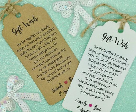 Wedding Gift Poems For Money: Wedding Money Gift Poem Honeymoon Wishing Well Personalised
