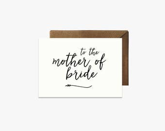 To the mother of the bride Card + Kraft Envelopes Card