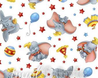 Woven Fabric - Disney Dumbo Circus - Fat Quarter Yard +