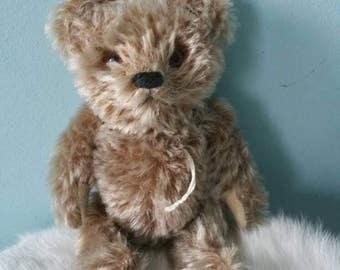 Cute brown miniature teddy bear! Vintage stuffed toy decorative