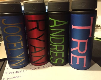 Custom Aluminum Water Bottles - 25 oz. Variety of Colors - Customizable