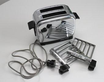 Vintage 50s Siemens Elettra Chrome Toaster - Working condition
