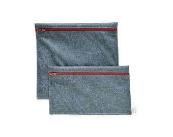 Sacs à sandwich et collation réutilisables - Bas de laine - Reusable bags - one snack bag one sandwich bag - whool sox