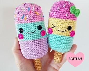 ICE LOLLIES - PDF Pattern, amigurumi, crochet
