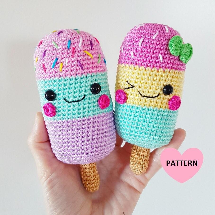 Etsy Amigurumi Patrones : ICE LOLLIES PDF Pattern amigurumi crochet