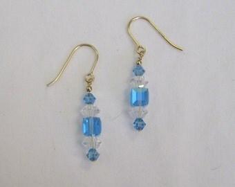 Light Blue Crystal Earrings - g0830e01