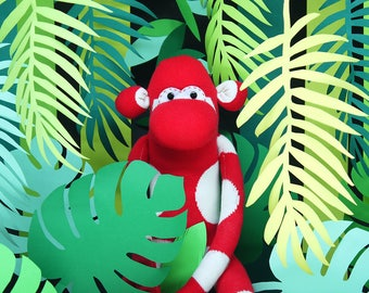 Monkey George Toy | Color Safari Collection