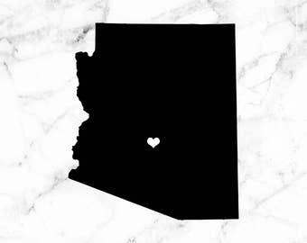 Arizona decal, Arizona stickers, State car decals, Arizona state decal,
