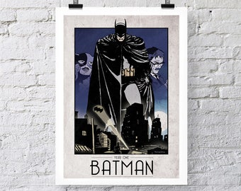 Limited Edition Batman Year One Print Wall Art colour